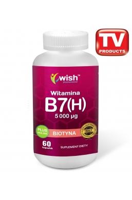 Biotyna Witamina B7 (H) 5000µg + Inulina 60 kapsułek