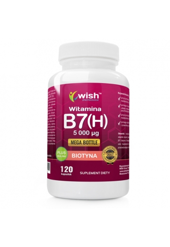 Biotyna Witamina B7 (H) 5000µg + Inulina 120 kapsułek
