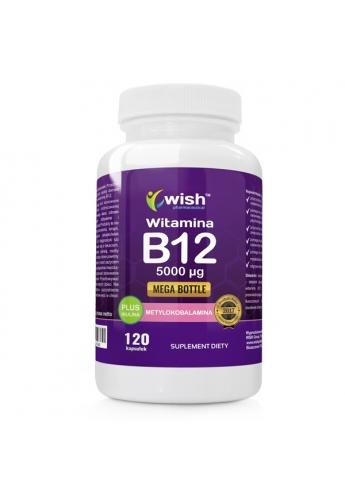 Witamina B12 5000 µg Metylokobalamina + Inulina 120 kapsułek