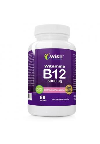 Witamina B12 5000 µg Metylokobalamina + Inulina 60 kapsułek