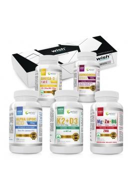 Zestaw Sport Active Plus : Ashwagandha 500mg + ZMA+ Kwas Alfa Ala 200mg +Omega 3 + K2 MK7 + D3 in MCT oil