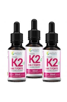Witamina K2 MK-7 z Natto Forte w Kroplach 3x 30ml/2700 Kropli Dla Wegan