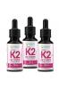 Naturalna Witamina K2 MK-7 z Natto Forte w Płynie Krople 3x 30ml/2700 Kropli Dla Wegan