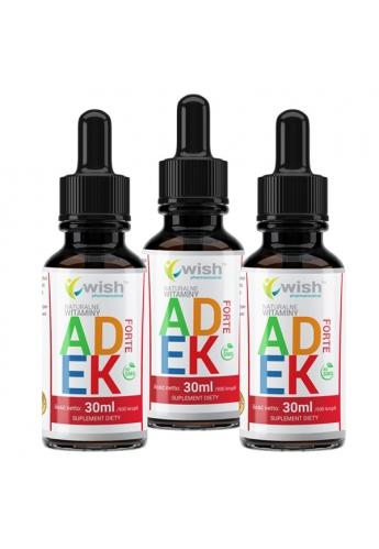 Witamina ADEK Complex A D3 E K2 MK-7 w Kroplach 2x 30ml Produkt Vege