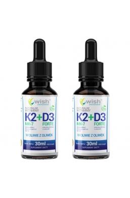 Witamina K2 MK-2 + D3 w Kroplach 2x 30ml Produkt Vege