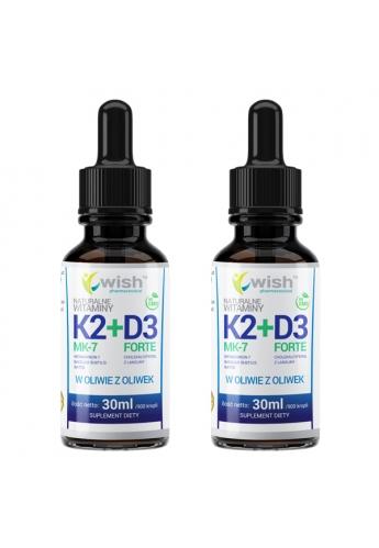 Witamina K2 MK-2 + D3 w Kroplach 2x 30ml