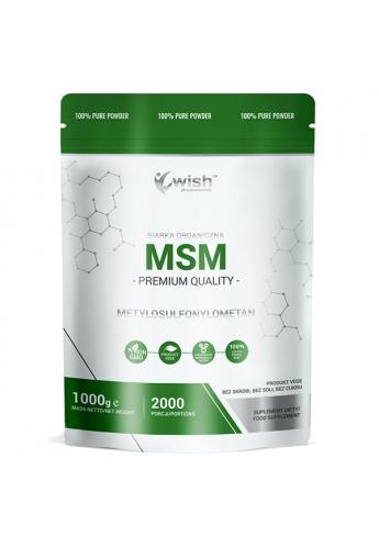 MSM 500mg Siarka Organiczna w Proszku 1kg Produkt Vege