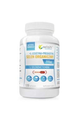 Selen Organiczny 200µg L-Selenometionina Produkt Vege 120 Kapsułek