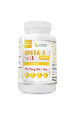 Omega 3 1000mg Forte Gold EPA330 DHA220 Olimpijskie Libido + Witamina E Mega Dawka 90 Kapsułek