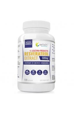 Resveratrol Extract 500mg Ekstrakt Ze Skórek Winogron + Prebiotyk 120 kapsułek