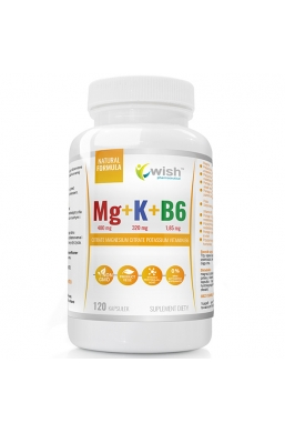 Magnez + Potas + Witamina B6 Produkt Vege120 Kapsułek