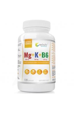 Cytrynian Magnezu + Cytrynian Potasu + B6 Produkt Vege120 Kapsułek