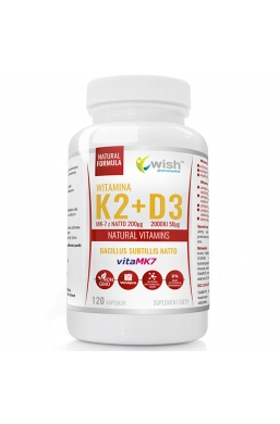 Witamina K2 vitaMK7 z natto 200mcg + D3 4000IU 100mcg 120 kapsułek
