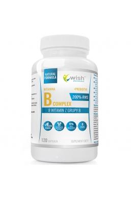 Witamina B Complex 200% RWS B1 B2 B3 B5 B6 B7 B9 B12 + Prebiotyk 120kapsułek
