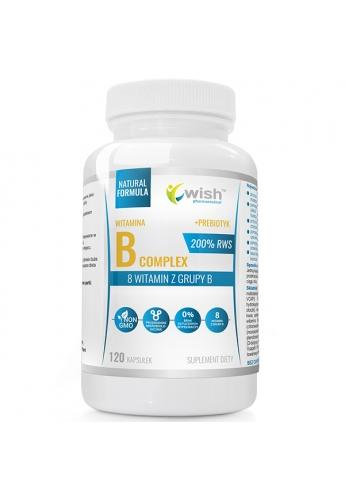 Witamian B Complex 200% RWS B1 B2 B3 B5 B6 B7 B9 B12 + Probiotyk 12kapsułek