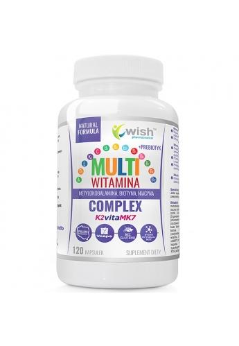 Multiwitamina Complex Witamina K2+D3 A, E, C, + B COMPLEX + Prebiotyk 120 Kapsułek