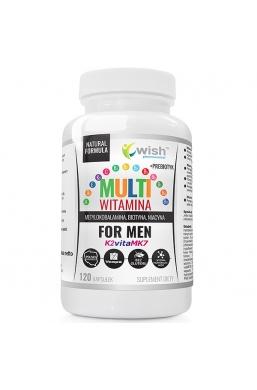 Multiwitamina Complex Men Witaminy Dla Mężczyzn ADEK B C + Prebiotyk 120 Kapsułek