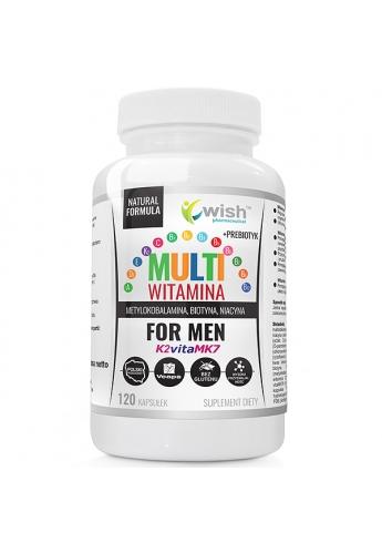 Mulltiwitamina Complex Men Witaminy Dla Mężczyzn ADEK B C + Prebiotyk 120 Kapsułek