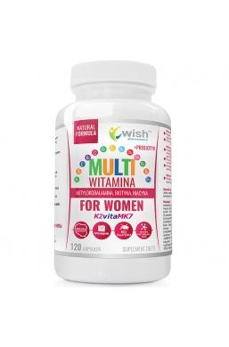 Multiwitamina Dla Kobiet B COMPLEX + ADEK + Wit C + Prebiotyk 120 Kapsułek