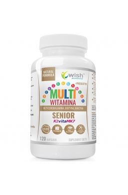 Multiwitamina Complex Senior Witamina B Complex ADEK Wit C + Prebiotyk 120 Kapsułek