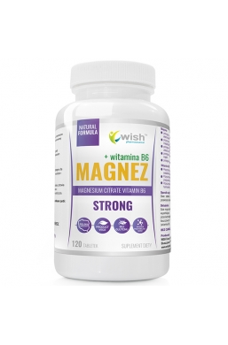 Magnez Strong+ Witamina B6 Forte Skurcze Stres Wysoka Dawka Produkt Wege 120 Tabletek