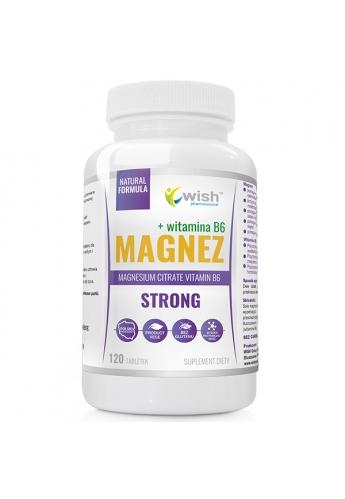 Magnez Strong+ Witamina B6 Forte Skurcze Stres Wysoka Dawka Produkt Wege 120 Kapsułek