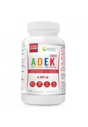 Witamina ADEK Complex A D3 E K2 MK-7 w oleju MCT 120 Kapsułek