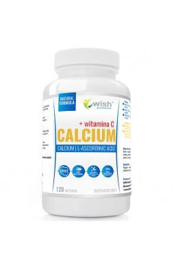 Calcium Wapń 800mg, Witamina C 200mg 120 Kapsułek