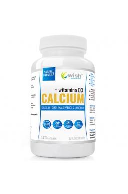 Calcium Wapń 1000mg, Witamina D3 50mcg 120 Kapsułek