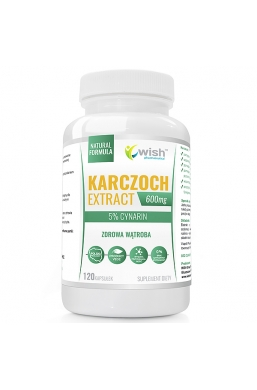 Karczoch Extract 600mg 5% Cynarin Produkt Vege 120 Kapsułek