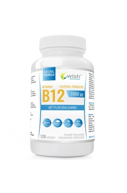 Witamina B12 1000mcg Metylokobalamina + Prebiotyk 120 kapsułek