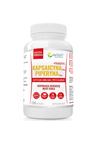 Kapsaicyna 10mg + Piperyna 10mg 120 kapsułek Produkt Vege