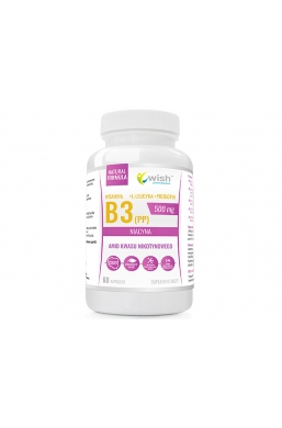 Niacyna Witamina B3 (PP) 500mg + Inulina 60 kapsułek