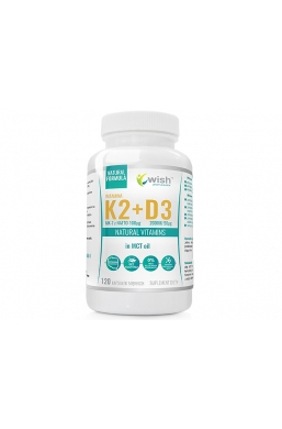 Witamina K2 MK-7 100mcg + D3 2000IU 50mcg w oleju MCT (olej kokosowy) 120 kapsułek