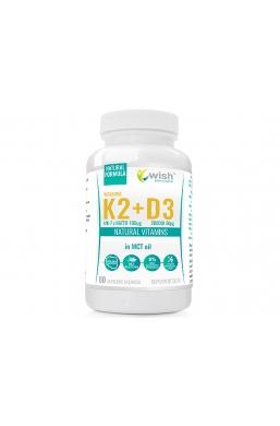 Witamina K2 MK-7 100mcg + D3 2000IU 50mcg w oleju MCT (olej kokosowy) 60 kapsułek