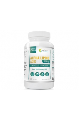 Alpha Lipoic Acid Kwas Alfa Liponowy ALA Plus 600mg 120 kapsułek dla Wegan