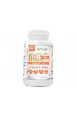 Witamina B6 P-5-P 50mg Koenzymatyczna + Prebiotyk 60 Kapsułek dla Wegan