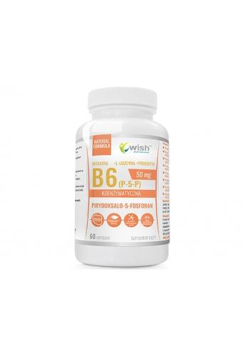 Witamina B6 P-5-P 50mg Koenzymatyczna + Inulina 60 Kapsułek