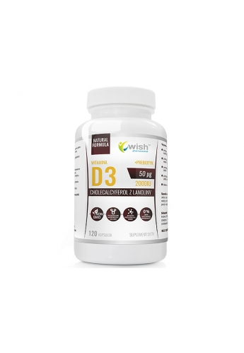 Witamina D3 Forte 2000IU 50mcg 120 tabletek