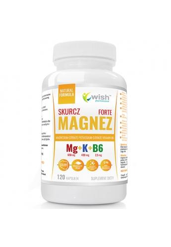 MAGNEZ SKURCZ FORTE Magnez + Potas + B6 Produkt Vege 120 Kapsułek