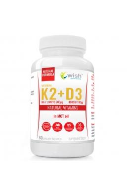 Witamina K2 MK-7 200mcg + D3 4000IU 100mcg w oleju MCT (olej kokosowy) 60 kapsułek