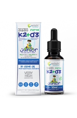 Naturalna Witamina K2 MK-7 + D3 Forte w Kroplach Dla Dzieci 30ml Produkt Vege