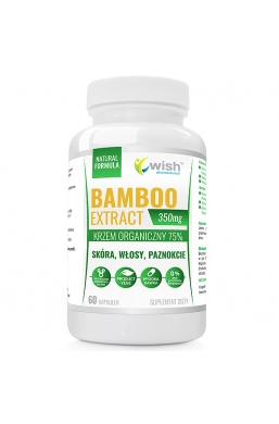 BAMBOO EXTRACT 350mg 75 % KRZEMU ORGANICZNEGO, SKÓRA, WŁOSY, PAZNOKCIE 60 kapsułek