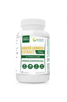 KORZEŃ LUKRECJI EXTRACT 250 mg GLICYRYZYNA INULINA 60kap PRODUKT VEGE