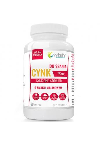 CYNK DO SSANIA 15 mg ODPORNOŚĆ do ssania, do żucia 60 tabletek