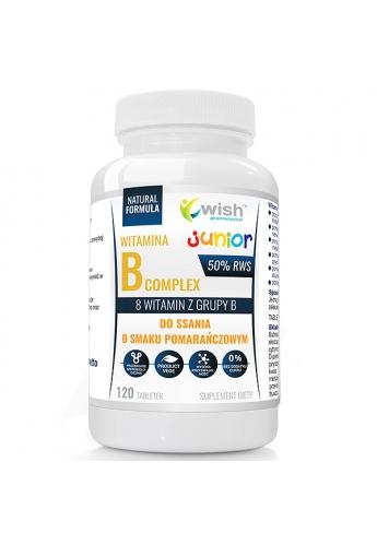 WITAMINA B Complex 50%RWS 8 WITAMIN Z GRUPY B, DO SSANIA DLA DZIECI 120 tabletek