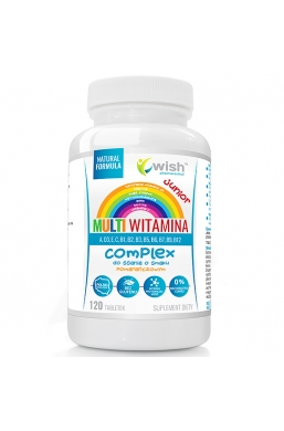 Multiwitamina Junior Witamina B COMPLEX + ADEK + Wit C DO SSANIA 120 tabletek