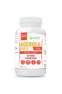 ACEROLA 250mg Naturalna Witamina C DO SSANIA 120 pastylek