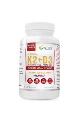 WITAMINA K2 VitaMK7 200µg + D3 4000IU Wegan 120 kapsułek