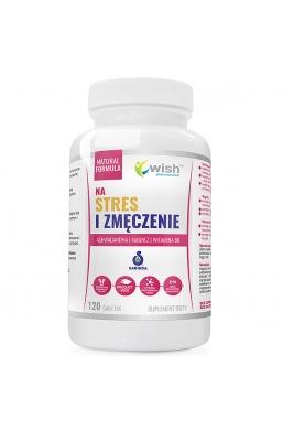 NA STRES I ZMĘCZENIE Ashwagandha + Magnez + Witamina B6 120 tabletek